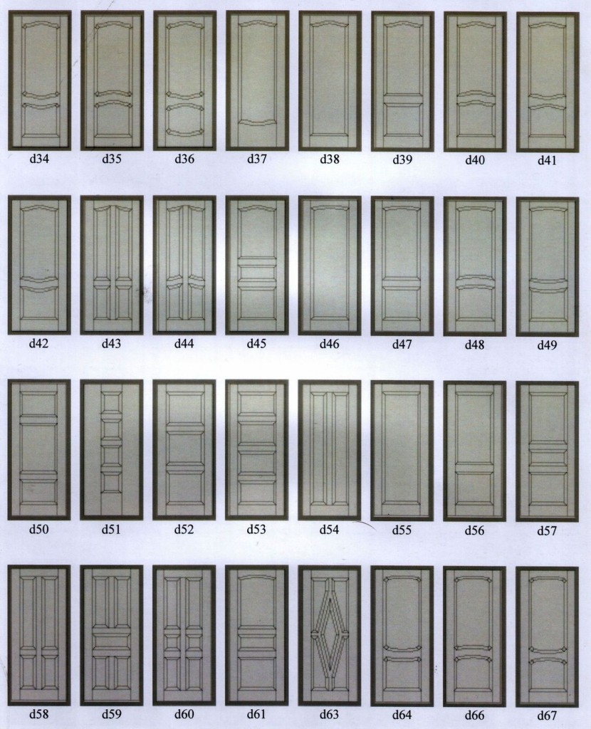 Образцы рисунков отделки массив
