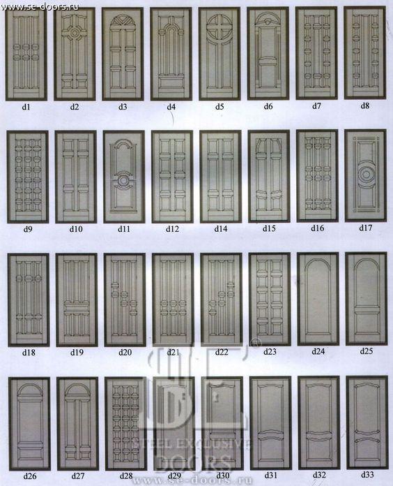 Образцы рисунков отделки массивом