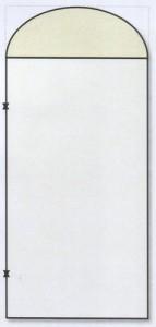 Металлическая дверь арочная
