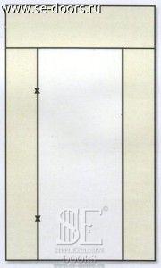 Металлическая дверь вставка с трех стророн