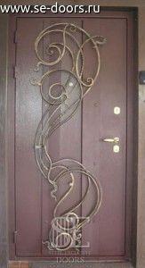 Отделка панель PVC декоративная ковка