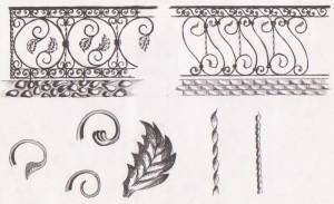 Эскизы кованых ограждений