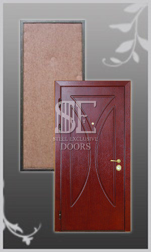 стальную дверь с шпонированным покрытие
