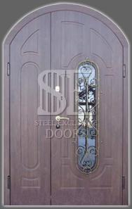 Арочные входные металлические двери